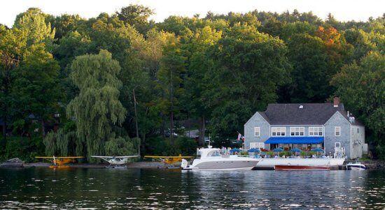 Seaplanes at Bistro du Lac in Westport, NY (Source: Bernard Perillat)