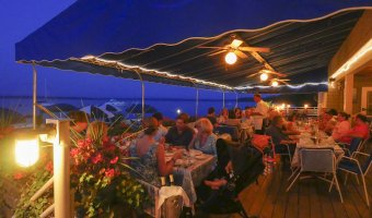 Deck Seating at Bistro du Lac in Westport, NY (Source: Carolyn Bates)