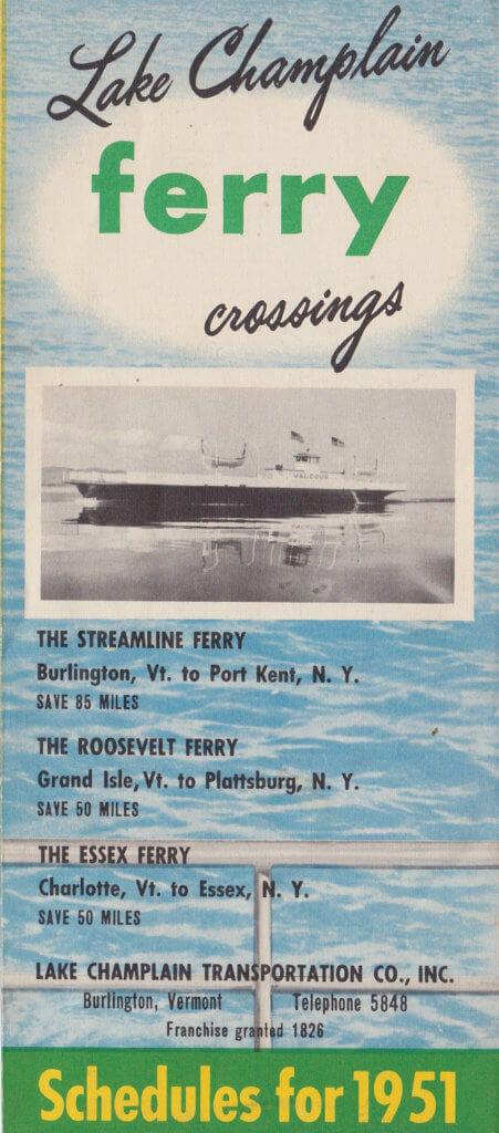 1951 Ferry Brochure (Back)