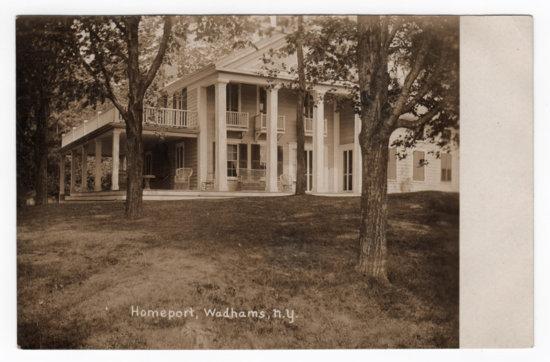 Vintage Photo: Homeport, Wadhams, NY