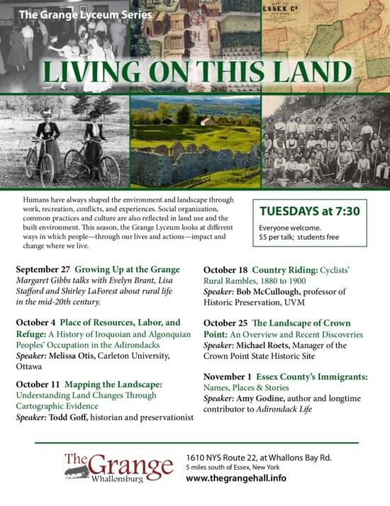 Living on this Land Lyceum Series 2016