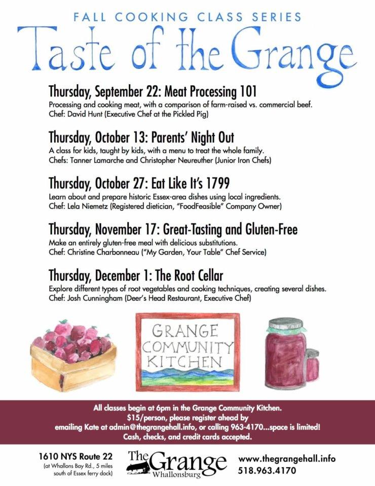 Taste of the Grange 2016 Poster