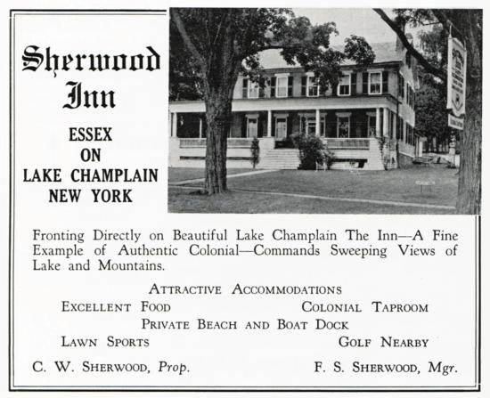 1949 Sherwood Inn Advert