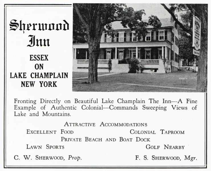 1949 Sherwood Inn Advert