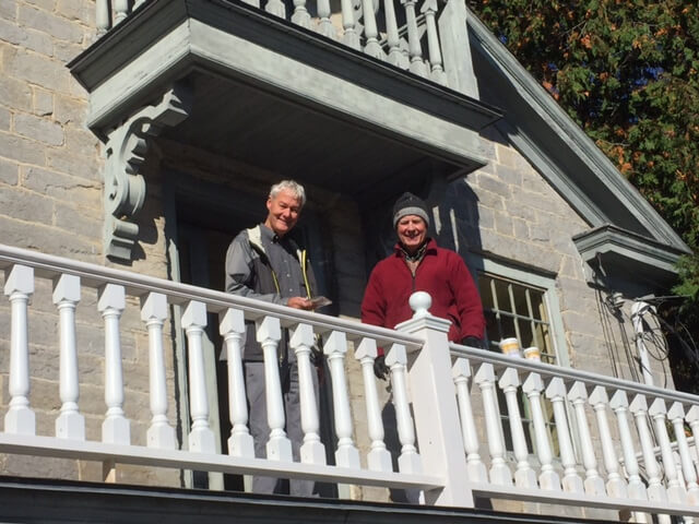 DeLaughter and Rumsey on restored library balcony