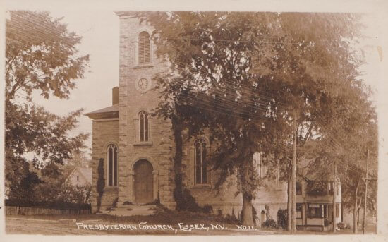 Vintage Photo: Presbyterian Church, Essex, NY