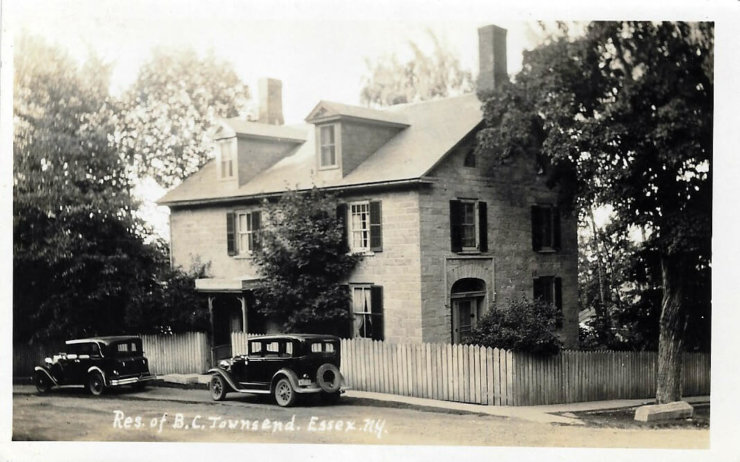 Vintage Photo: Residence of B.C. Townsend (Credit: Unknown; Shared by: Robert Strickhart)