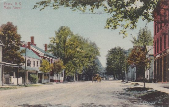 Vintage Postcard: Essex Main Street with Carriage