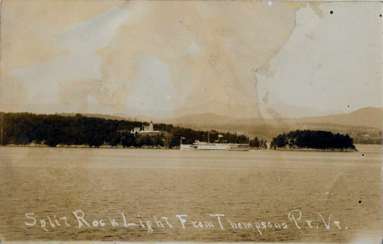 Vintage Photo: Split Rock with Ferry