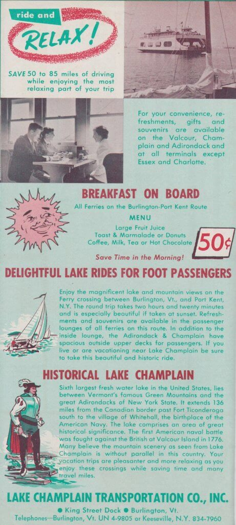 1963 Ferry Brochure Interior Page