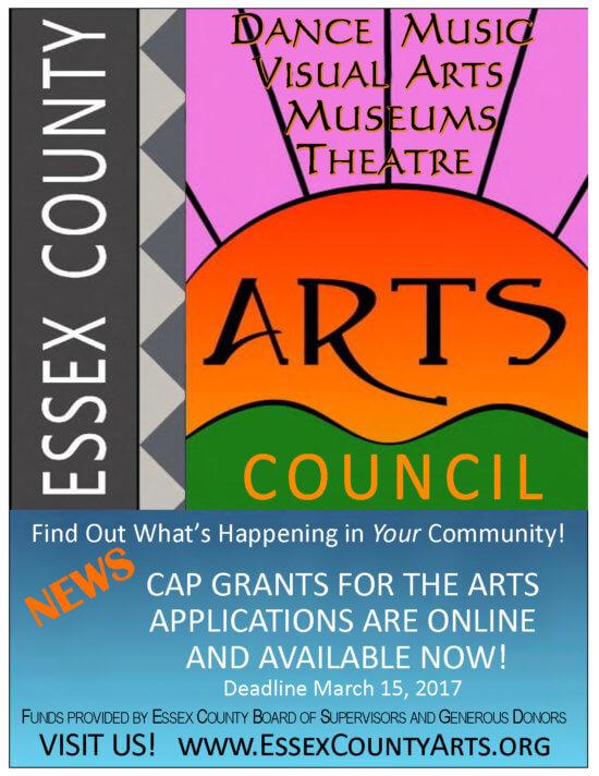 Essex County Arts Council 2017 CAP Grant Poster