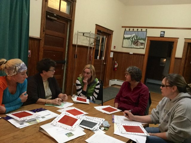 HOLIDAY CHEER: Diedre Forcier, Cheryl Phillips, Dawn Gay, Lyn Barrett and Medara Sherman plot and plan for special holiday festivities for Christmas in Westport on Dec. 3.