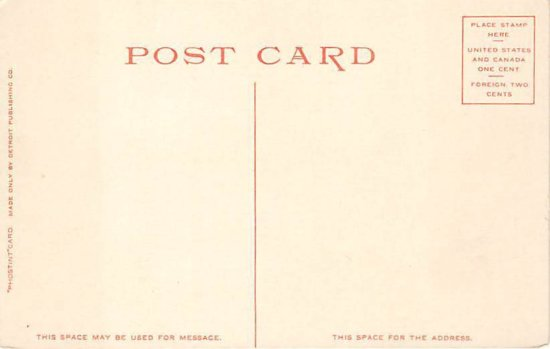 Vintage Postcard: Westport Waterfront circa 1907 - back