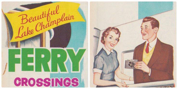 1956 Ferry Brochure (Clips From Front Cover)