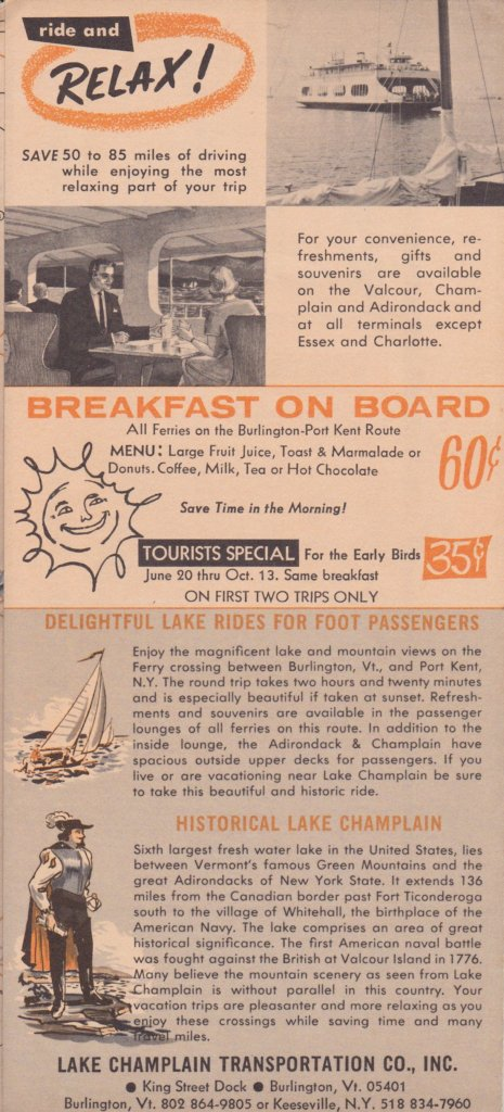 1968 Ferry Brochure - Interior Page
