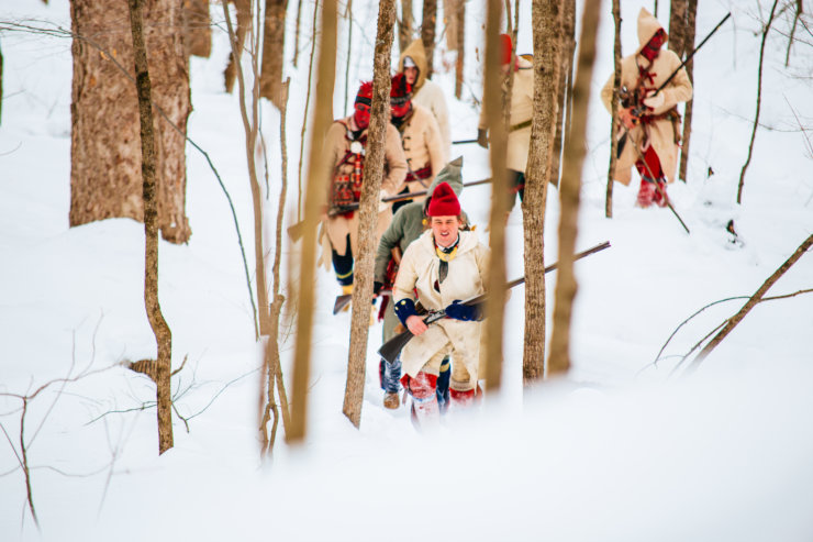 Fort Ticonderoga's Battle on Snowshoes Re-enactment will be presented January 21, 2017. (Credit: Fort Ticonderoga)
