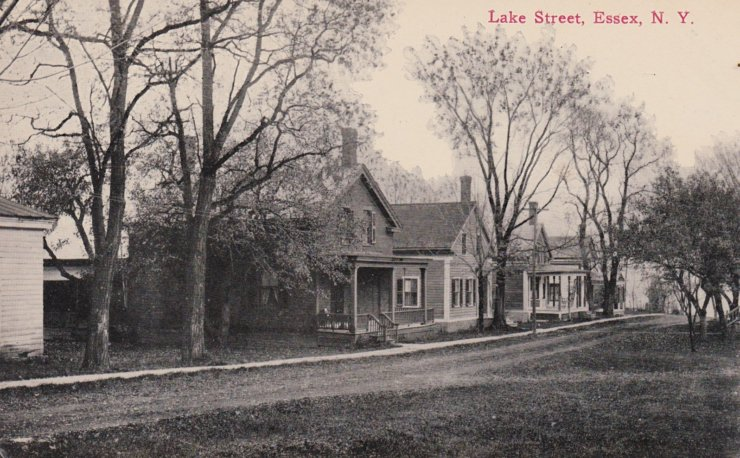 Vintage Postcard: Lake Street, Essex, NY (Source: Rosslyn Redux)
