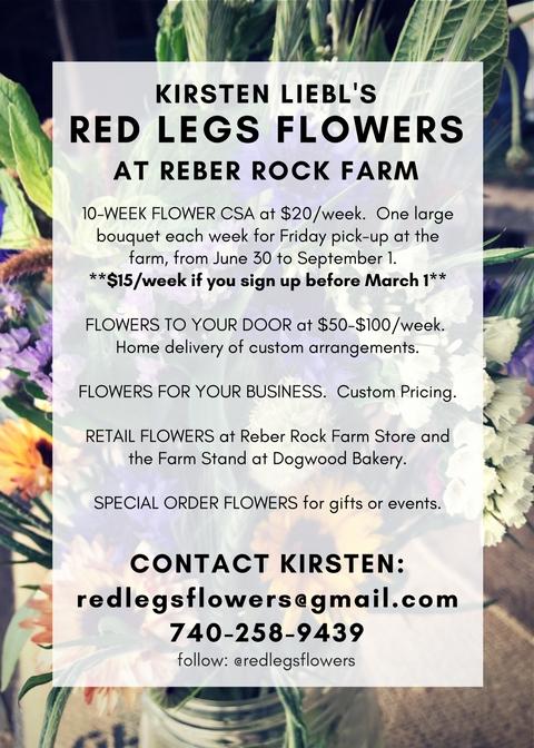 Red Legs Flowers Flyer