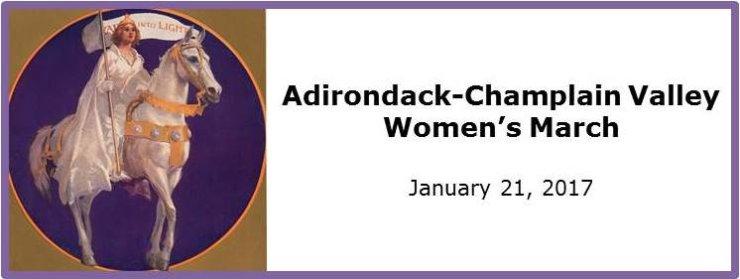 Adirondack-Champlain Women's March Banner (2017)