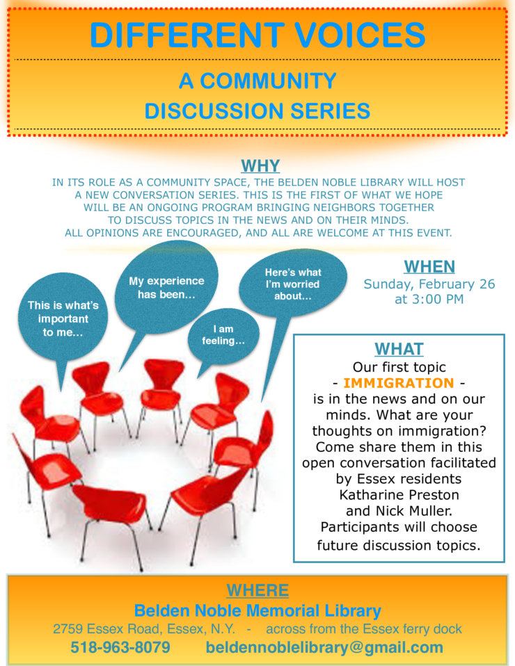Libary Community Discussion Flyer