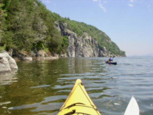 Paddling along the Palisades (Courtesy of Cathy Frank)