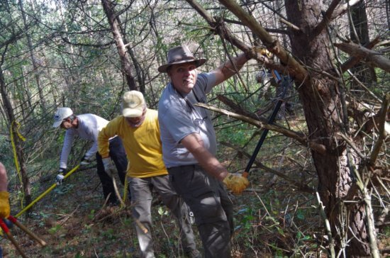 Volunteers will prep CATS trails in advance of Grand Hike on May 13, 2017. (Credit: CATS)