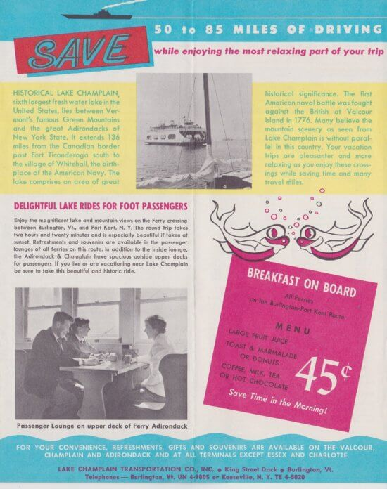 1960 Ferry Brochure, interior page