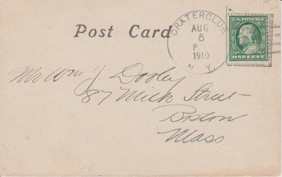 Crater Club Dock Postcard - back