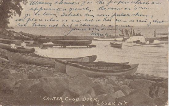 Vintage Postcard: Crater Club Dock