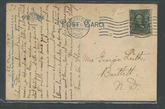 Vintage Postcard: Crown Point Lighthouse - back side