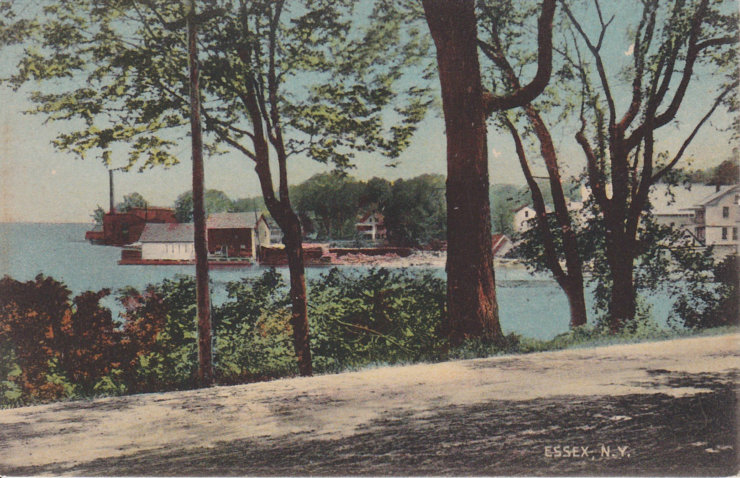 Vintage Postcard: Northern Essex Waterfront View