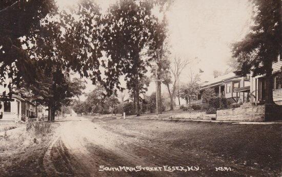 Vintage Postcard: South Main Street Essex, NY