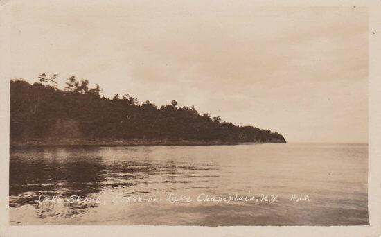 Vintage Postcard: Lake Shore, Essex, NY