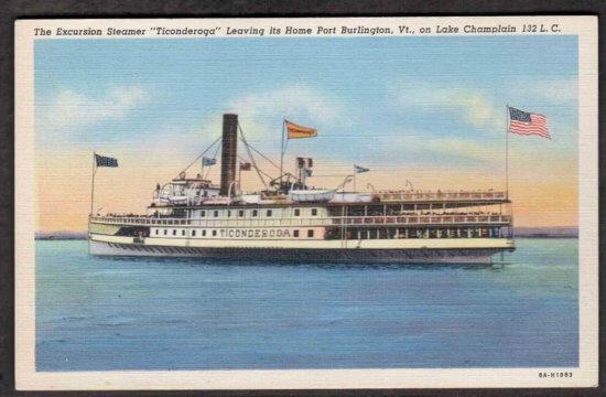 Vintage Postcard: Steamer Ticonderoga