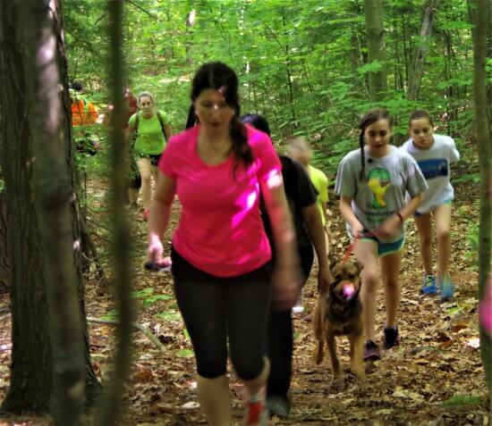 People from near and far hiked the four trails in the Moriah Challenge last weekend. (Credit: