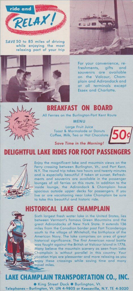 1961 Ferry Brochure- interior page