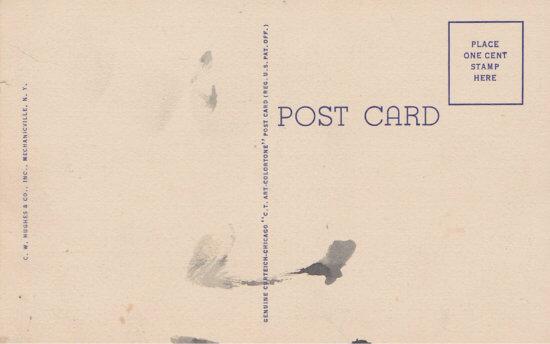 Vintage Postcard: Crown Point Bridge - back