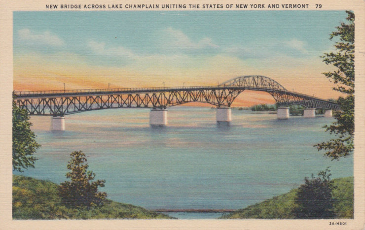 Vintage Postcard: Crown Point Bridge