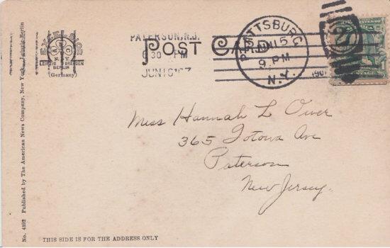Vintage Postcard: Sunrise on Lake Champlain (back)