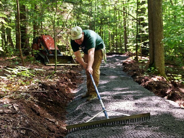 The Nature Conservancy's Adirondack Chapter is making major upgrades to the trail network at its Boquet River Nature Preserve. (THE SUN)