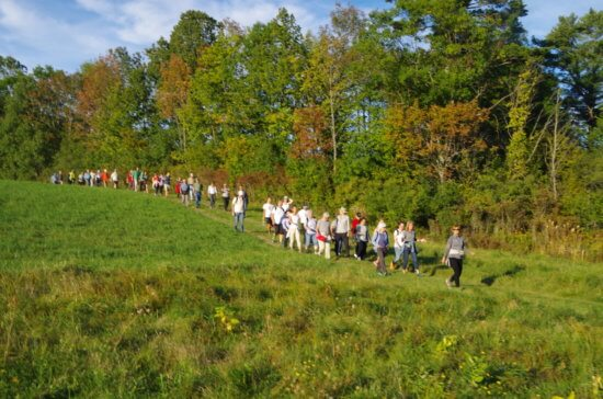 Farm-to-Fest hikers are treated to the beauty of early autumn in the Champlain Valley region.