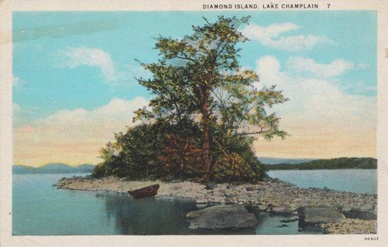Vintage postcard: Diamond Island