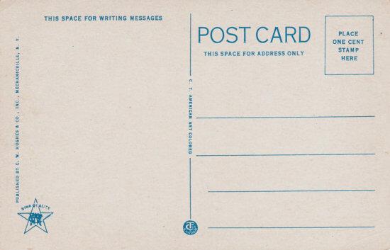 Vintage postcard: Diamond Island (back)