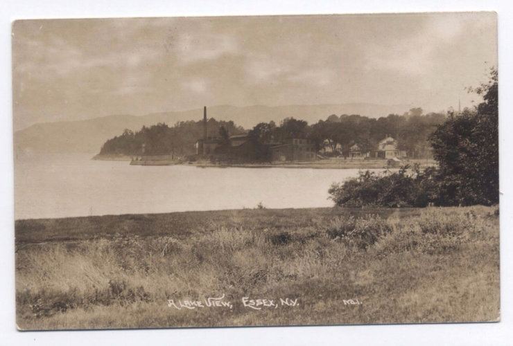 Vintage Postcard: Essex Waterfront View