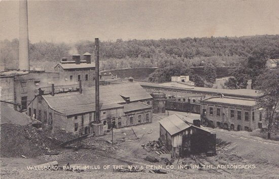Vintage Postcard: Willsboro Paper Mill