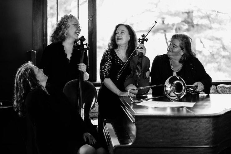 Patricia McCarty, trombonist Lori Salimando-Porter, cellist Julia Lichten , and pianist Rose Chancler