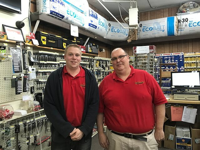 Van Calkins and Mark LaFountain have taken over Adirondack Hardware in Willsboro, which has been rebranded Willsborough Hardware. (Photo by Pete DeMola)
