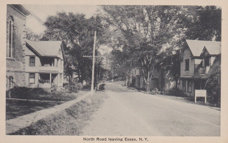 Vintage Postcard: North Road Leaving Essex