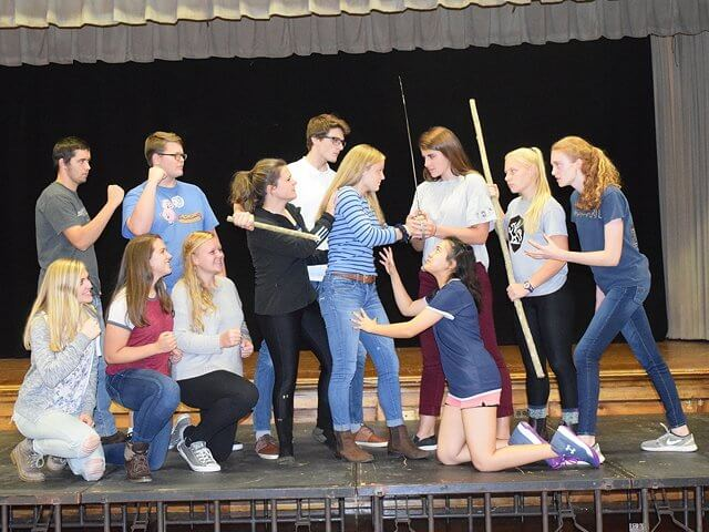 "The Westport Central School Class of 2018 will present ""Buffy the Vampire Slayer"" Nov. 17-18 in the Bulles Auditorium. (Photo by Jill Lobdell)"