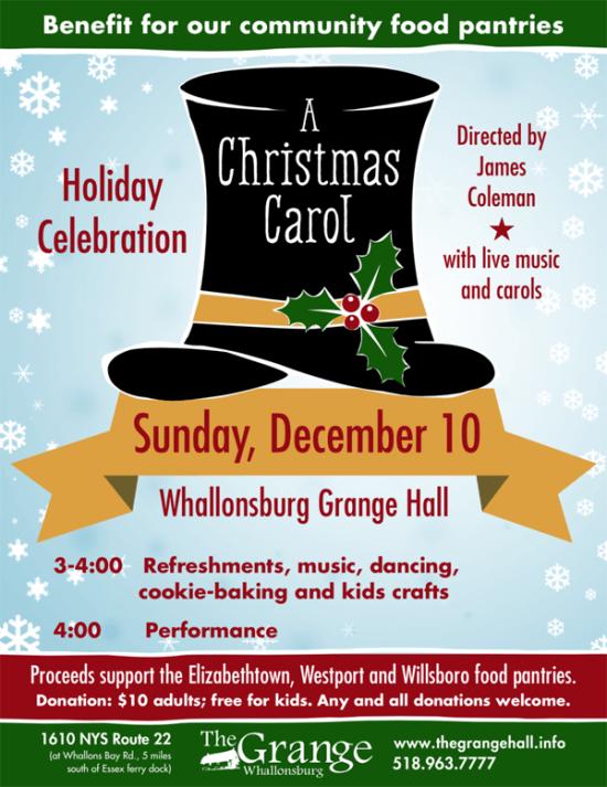 Grange Christmas Carol Poster 2017